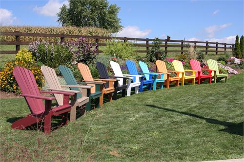 Different Colors Adirondack Chairs