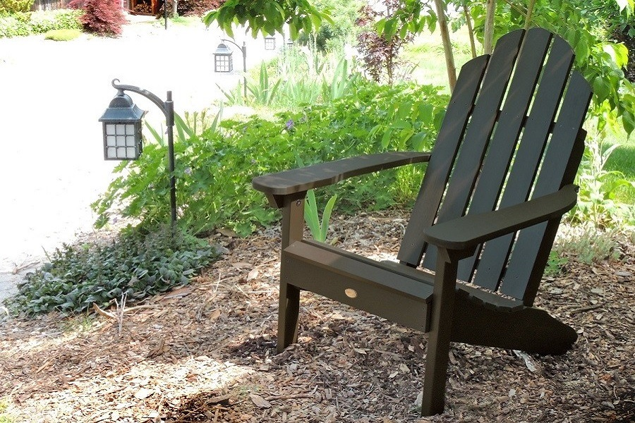 Highwood Classic Westport Adirondack Chair on Dirt