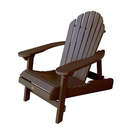 Highwood Hamilton Folding And Reclining Adirondack Chair on White Background