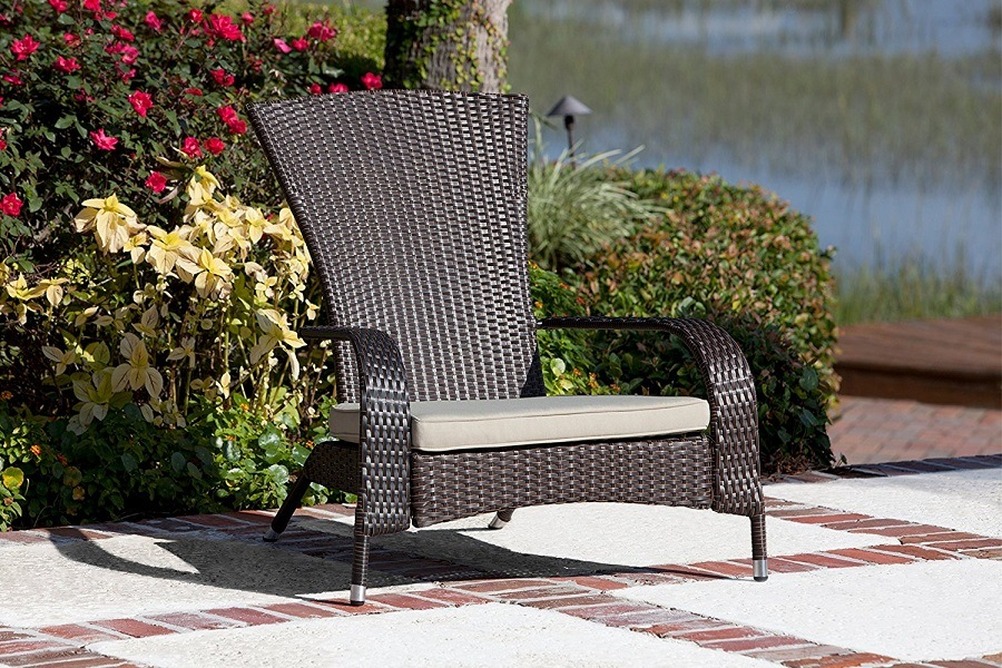 Patio Sense Coconino Wicker Adirondack Chair Review