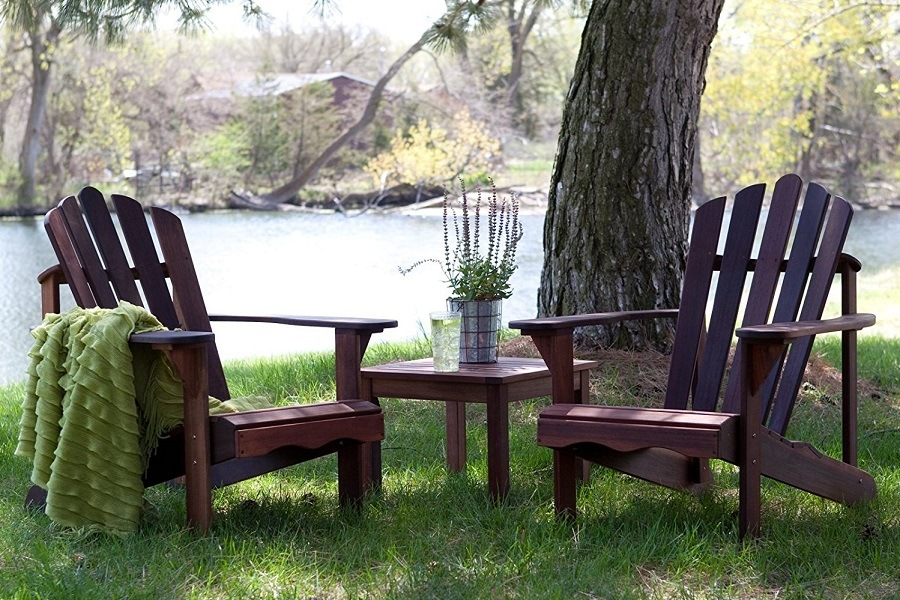 Richmond Adirondack Chair Set on Grass
