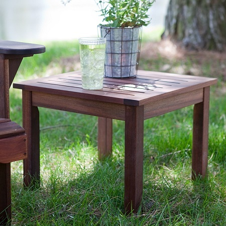 Wooden Table on Grass