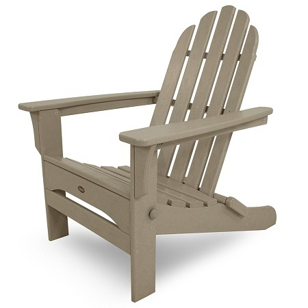 Trex Outdoor Furniture Cape Cod Folding Adirondack Chair on White Background