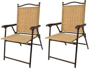 Greendale Home Fashion Outdoor Sling Back Chairs