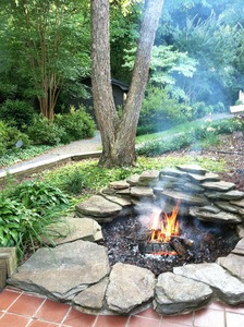 An-Old-Koi-Pond-inground fire pit