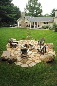 Backyard-Getaway-Not-The-Center-of-Attention- Inground Fire Pit