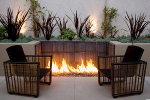 Cozy-Built-In-inground fire pit
